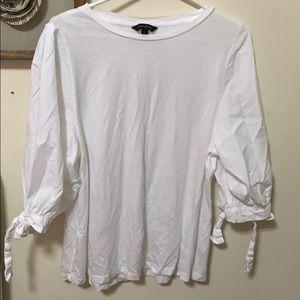 Banana republic puffy arms 3/4 shirt/blouse